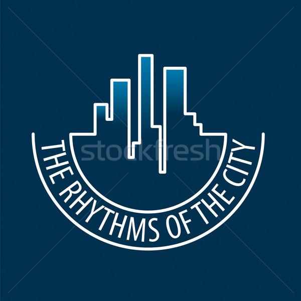Vektor logo éjszakai város iroda építkezés terv Stock fotó © butenkow