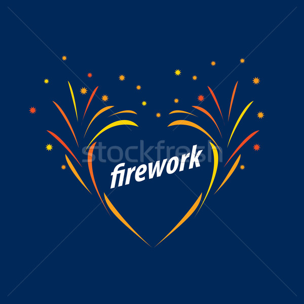 vector logo for fireworks Stock photo © butenkow