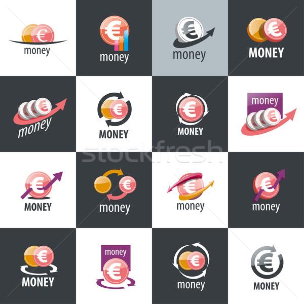 Vecteur logo argent conception de logo modèle icône Photo stock © butenkow