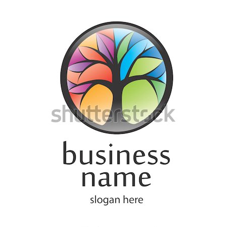 boom 183 logo 183 zwarte 183 business 183 ontwerp 183 zomer vector