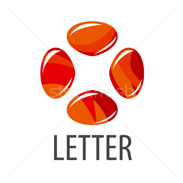vector logo abstract letter X of colored stones Stock photo © butenkow