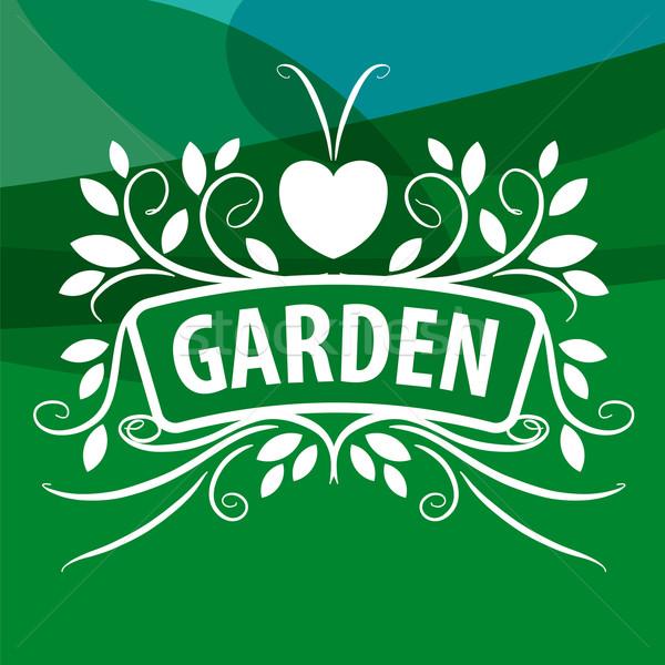 Vektor logo növények dísz szív virág Stock fotó © butenkow