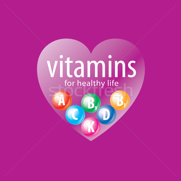 vector logo vitamins Stock photo © butenkow