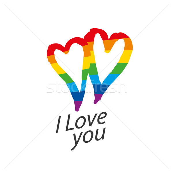 Photo stock: Logo · coeur · Rainbow · design · gay · lesbiennes