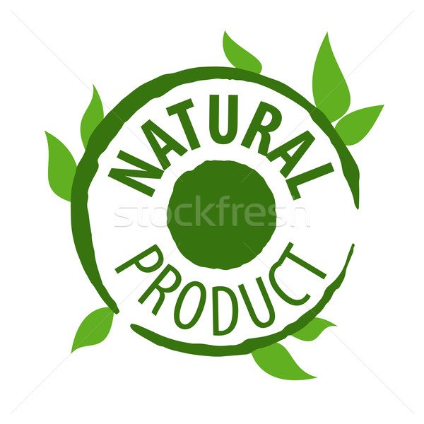 vector logo printing for natural products Stock photo © butenkow