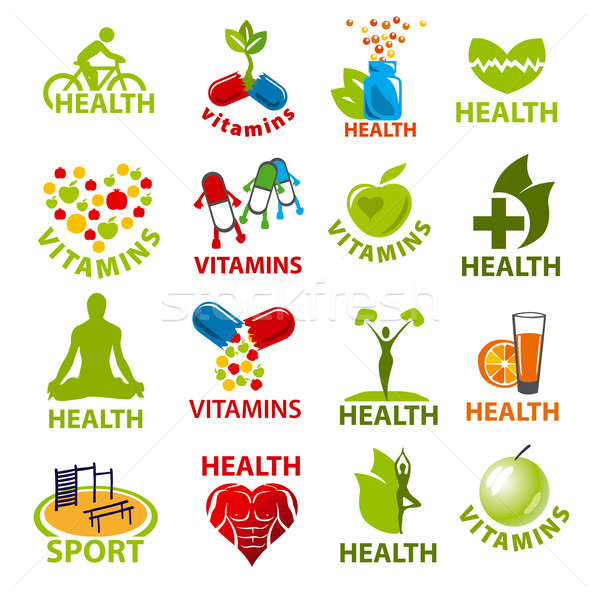 large set of vector logos for health Stock photo © butenkow