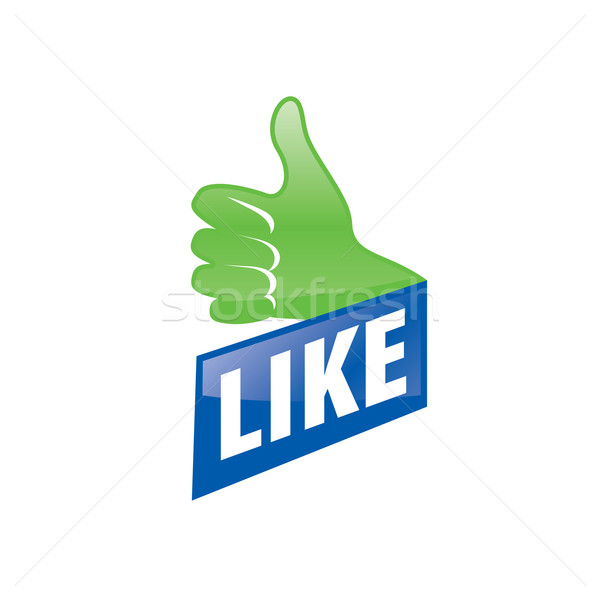 вектора логотип подобно большой палец руки вверх бизнеса Сток-фото © butenkow