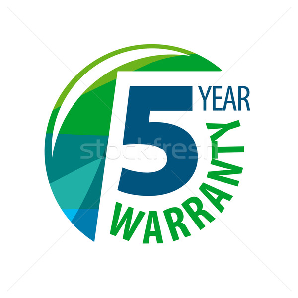 vector logo in the shape of a circle 5-year warranty Stock photo © butenkow