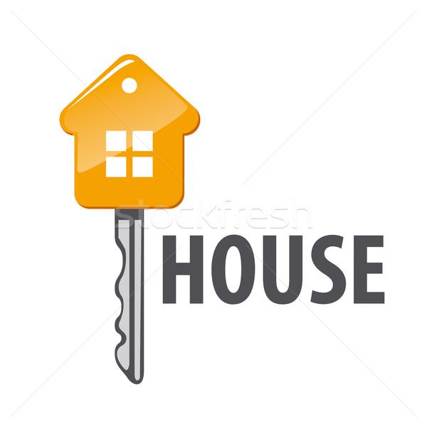 Vector logo huis vorm sleutel home Stockfoto © butenkow