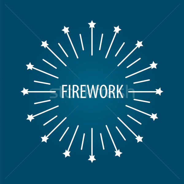 Round vector logo for the celebrations and fireworks Stock photo © butenkow