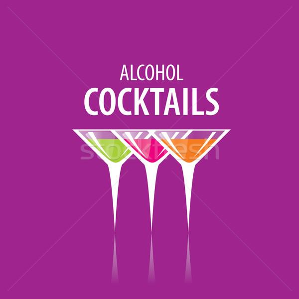 Cocktail logo vettore icone bevande party Foto d'archivio © butenkow