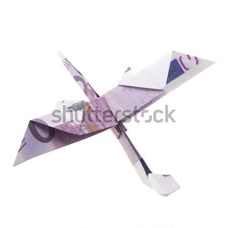 Origami pasăre cinci suta bancnote bani Imagine de stoc © butenkow