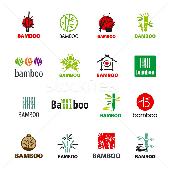 biggest collection of vector logos bamboo Stock photo © butenkow