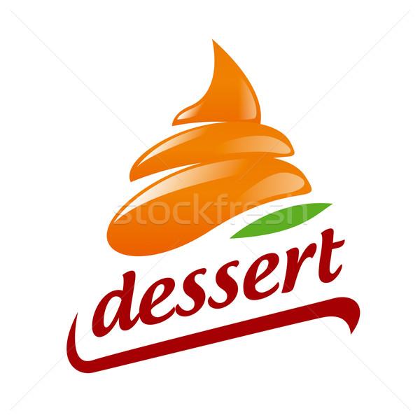 Abstract vector logo Orange Cream Stock photo © butenkow