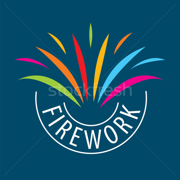 Abstract vector logo for the celebrations and fireworks Stock photo © butenkow