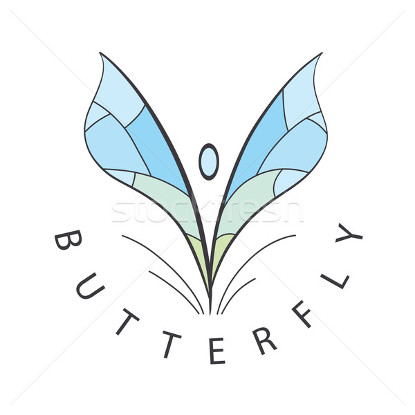 vector logo blue wings develop Stock photo © butenkow