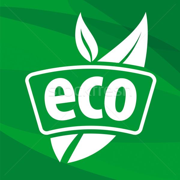 öko vektor logo virágmintás minták üzlet Stock fotó © butenkow