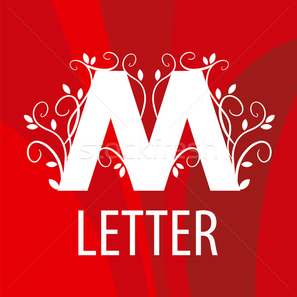 vector logo the letter M with vegetable patterns Stock photo © butenkow
