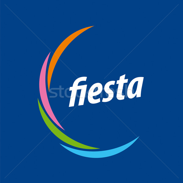 Abstract vector logo for the fiesta on a blue background Stock photo © butenkow