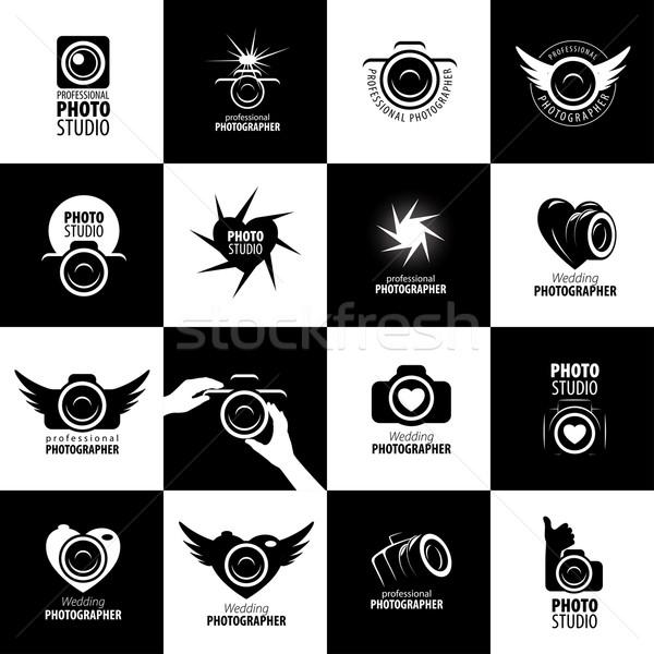 Vector logo fotógrafo plantilla estudio negocios Foto stock © butenkow