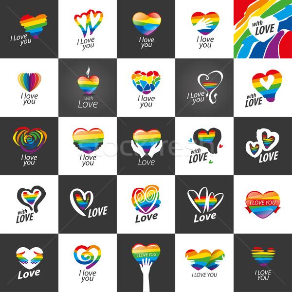 ロゴ 中心 虹 デザイン ゲイ レズビアン ストックフォト © butenkow