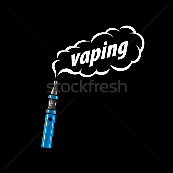 Vektor logo elektronikus cigaretta logoterv minta Stock fotó © butenkow