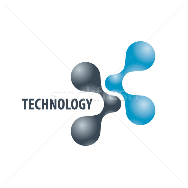 Technology logo in the form of atoms2 Stock photo © butenkow