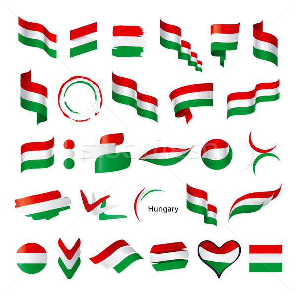 biggest collection of vector flags of Hungary Stock photo © butenkow