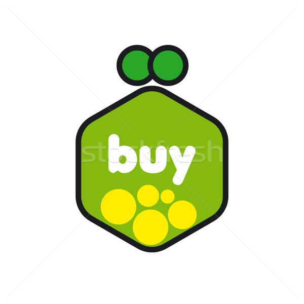 ベクトル ロゴ 緑 財布 コイン ショッピング ストックフォト © butenkow