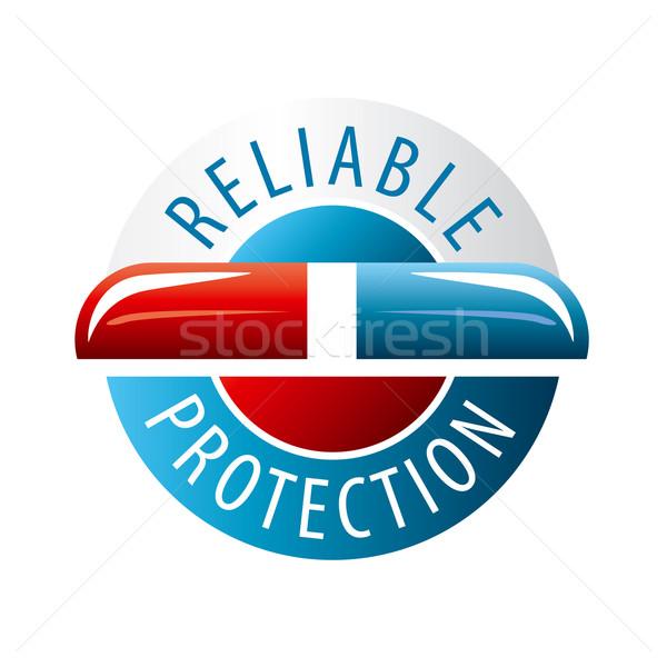 Vektor logo tárgy kút védett üzlet Stock fotó © butenkow