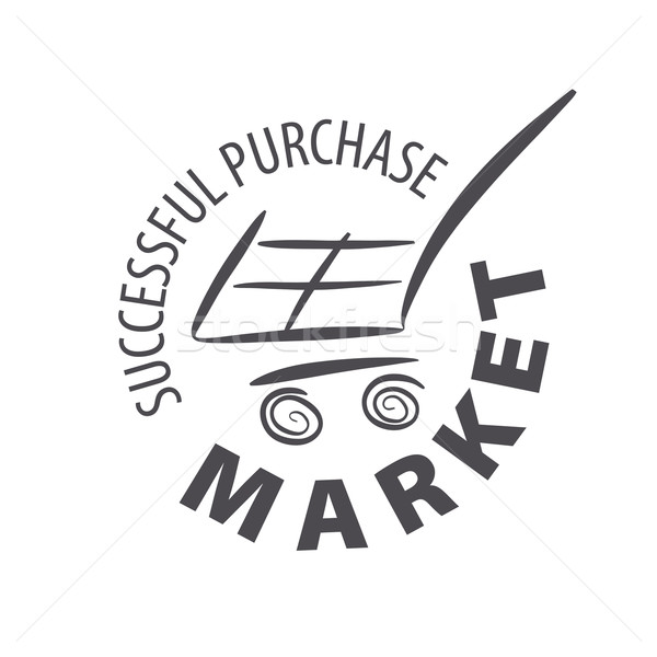 vector logo shopping cart in a store Stock photo © butenkow