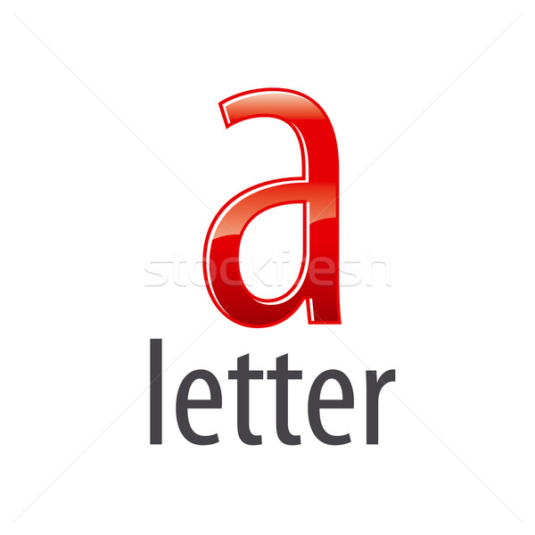 vector logo red letter A with highlights Stock photo © butenkow
