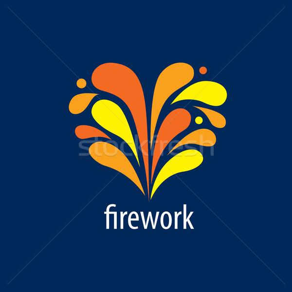 Vetor logotipo fogos de artifício abstrato moda coração Foto stock © butenkow