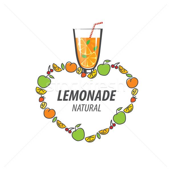 Logo limonádé vektor ikon italok absztrakt Stock fotó © butenkow