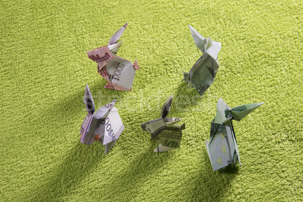 оригами заяц зеленый бумаги аннотация Сток-фото © butenkow
