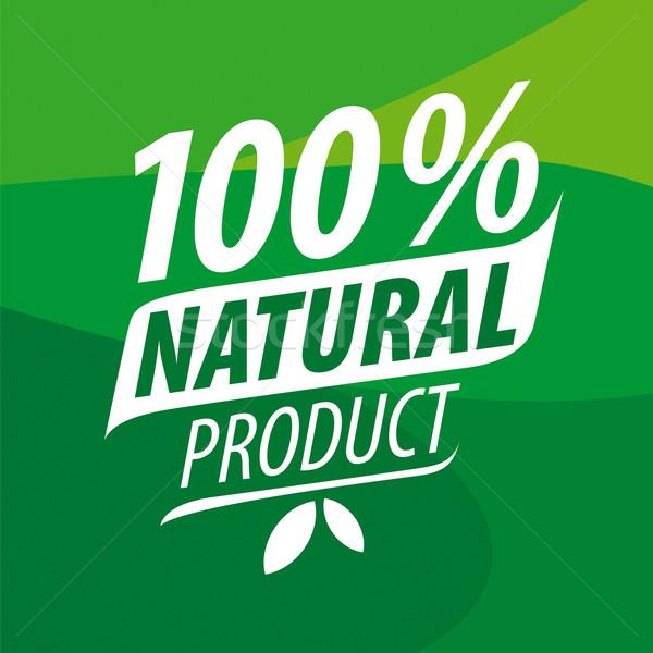 Vektör logo 100 doğal ürünleri dizayn Stok fotoğraf © butenkow