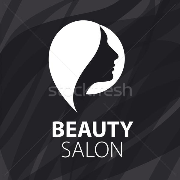 Vettore logo femminile parrucchiere faccia moda Foto d'archivio © butenkow