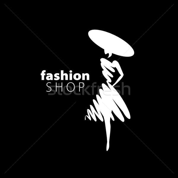 Vetor logotipo meninas moda ilustração menina Foto stock © butenkow