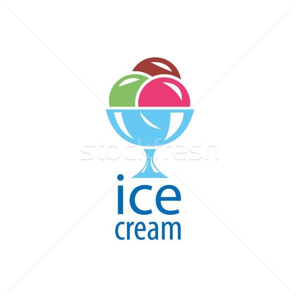 логотип мороженым дизайн логотипа шаблон продовольствие фон Сток-фото © butenkow