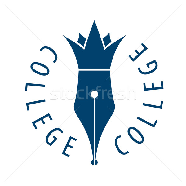 vector logo nib and crown for college Stock photo © butenkow