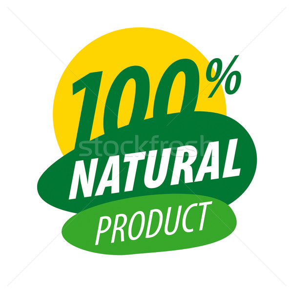 Abstract vector logo for 100% natural products Stock photo © butenkow