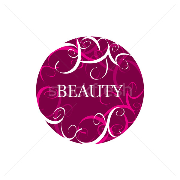 round abstract vector logo for fashion Stock photo © butenkow
