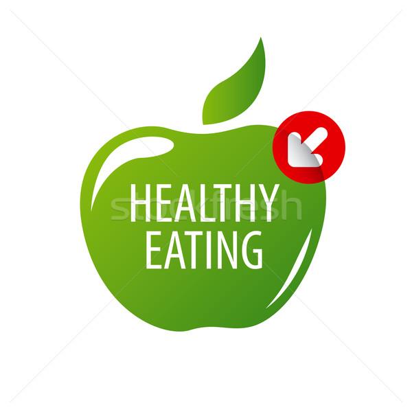ベクトル ロゴ 緑 リンゴ 健康食 ビジネス ストックフォト © butenkow