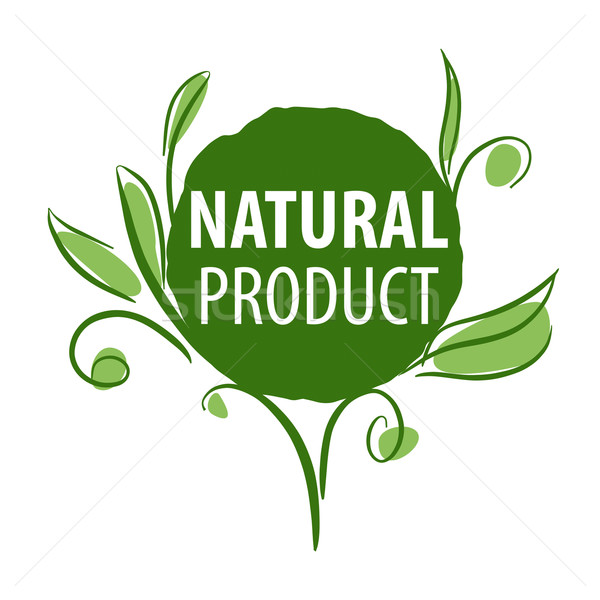vector logo for organic products in the form of plants Stock photo © butenkow