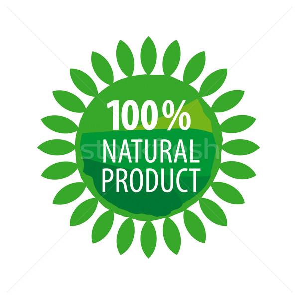 Vektor logo bioélelmiszer terv művészet farm Stock fotó © butenkow