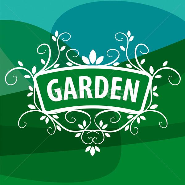 Vektor logo dísz növények kert virág Stock fotó © butenkow