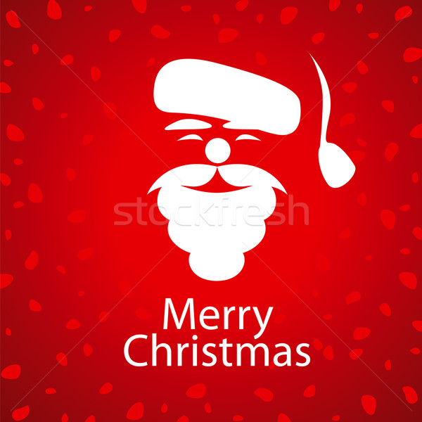 vector logo Santa Claus on a red background Stock photo © butenkow
