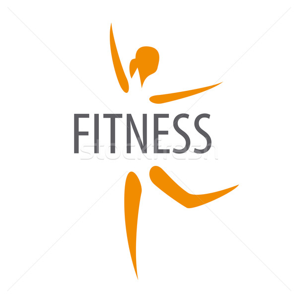 vector logo for the dancing girl of fitness club Stock photo © butenkow