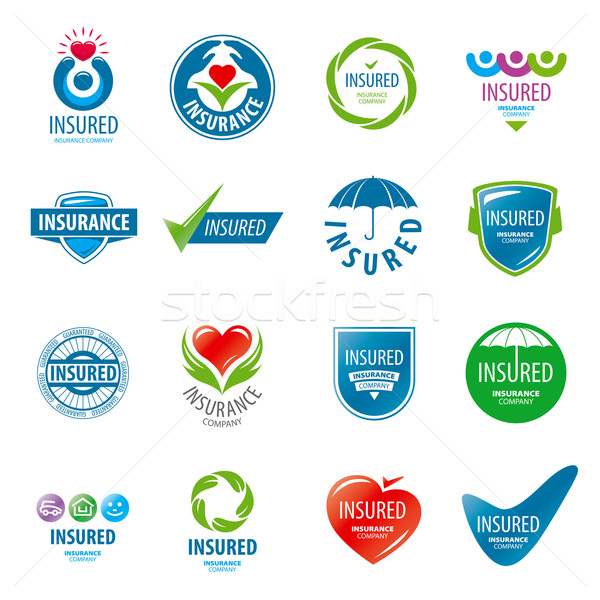 large set of vector logos insurance Stock photo © butenkow