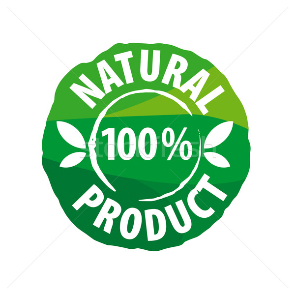 vector logo round seal for natural products Stock photo © butenkow